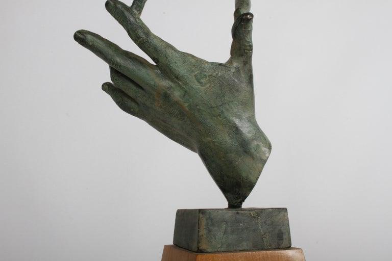 The Hand of God Bronze Sculpture After Carl Milles Sculptor  For Sale 14