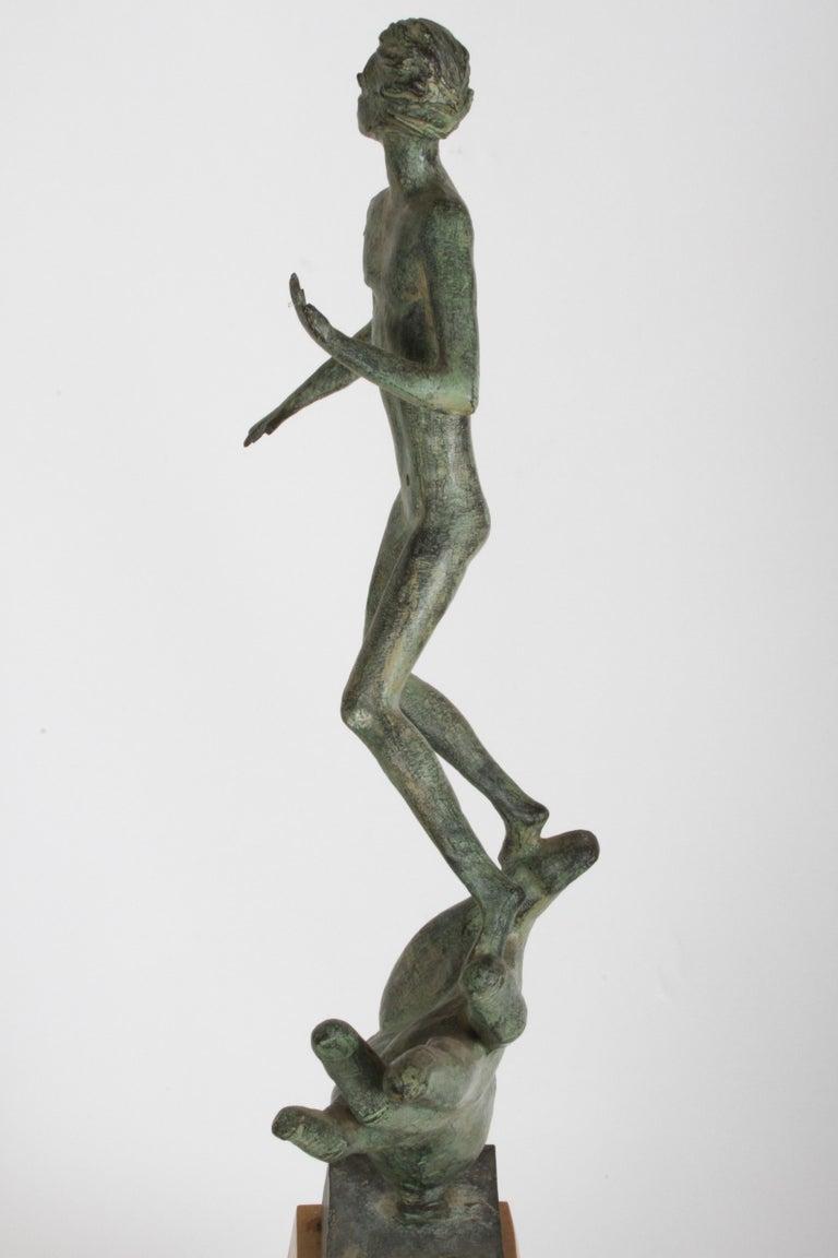 The Hand of God Bronze Sculpture After Carl Milles Sculptor  For Sale 15