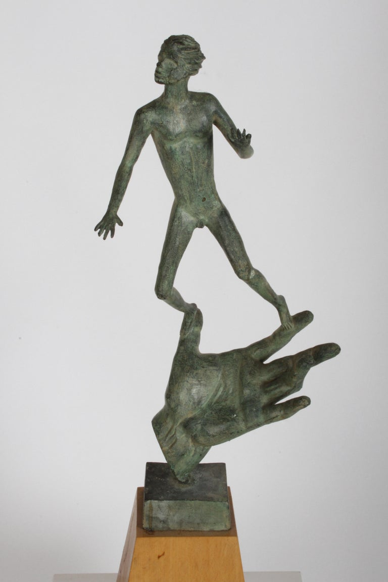 The Hand of God Bronze Sculpture After Carl Milles Sculptor  For Sale 17