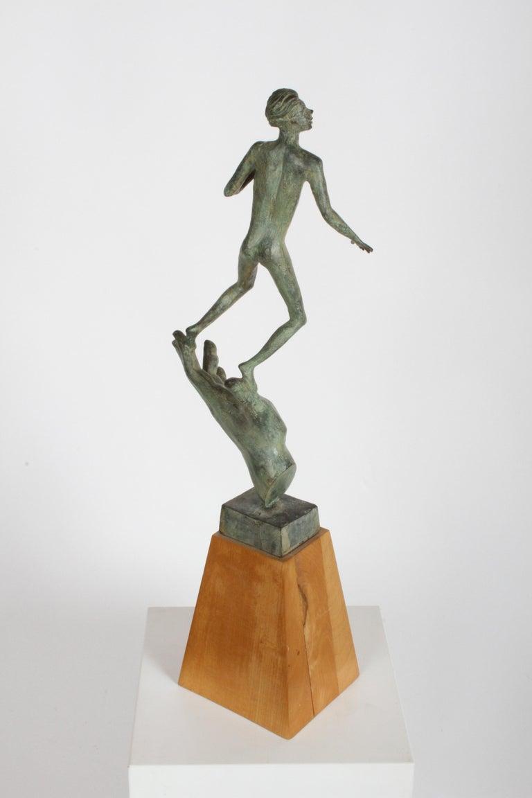 The Hand of God Bronze Sculpture After Carl Milles Sculptor  For Sale 2