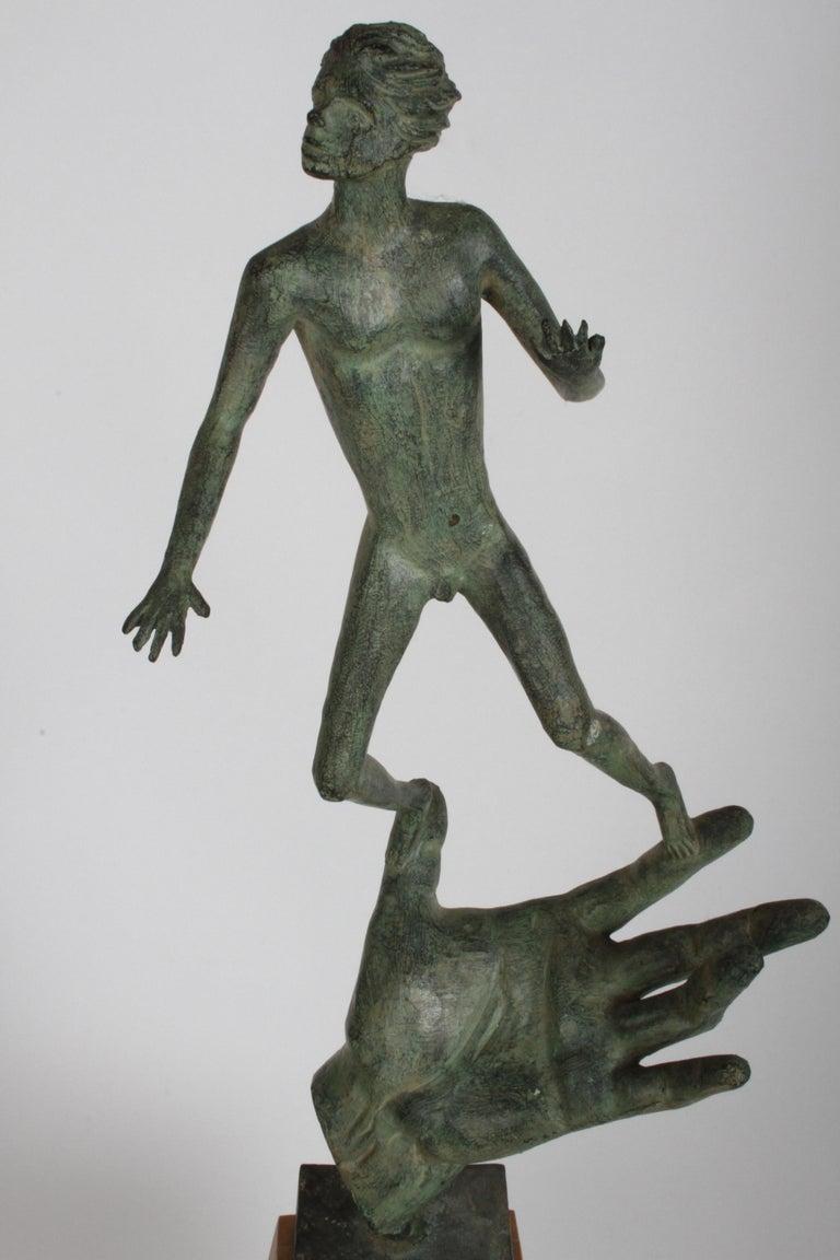 The Hand of God Bronze Sculpture After Carl Milles Sculptor  For Sale 4