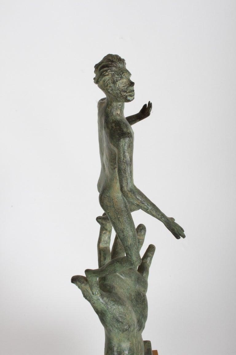 The Hand of God Bronze Sculpture After Carl Milles Sculptor  For Sale 5