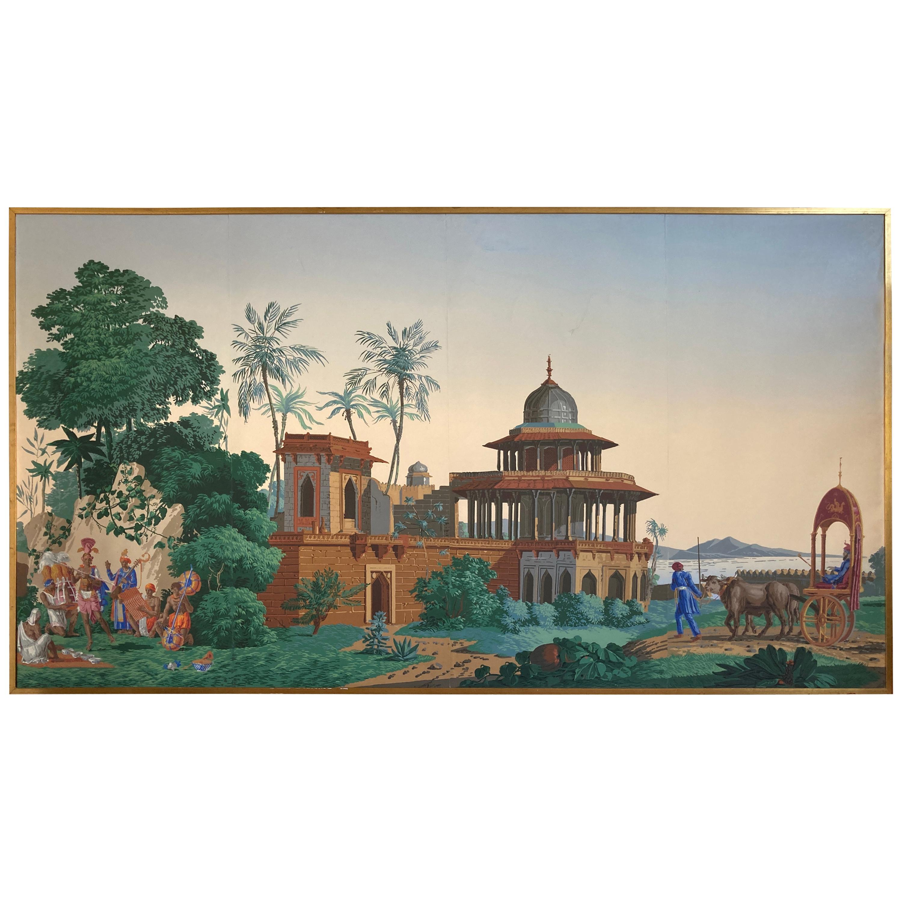 The Hindustan Panoramic Wallpaper Panels by Zuber & Cie. Rixhem, France