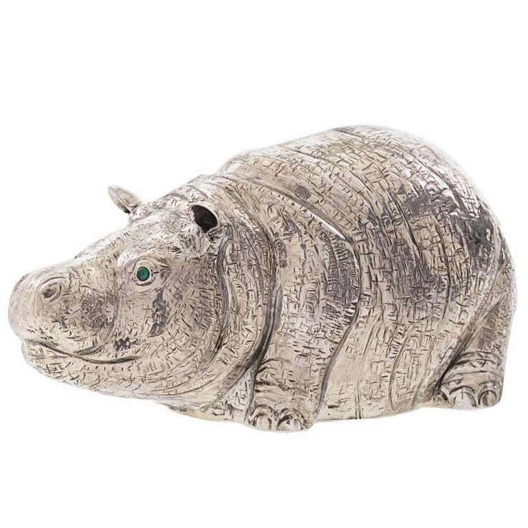The Hippo Sterling Silver Lighter For Sale