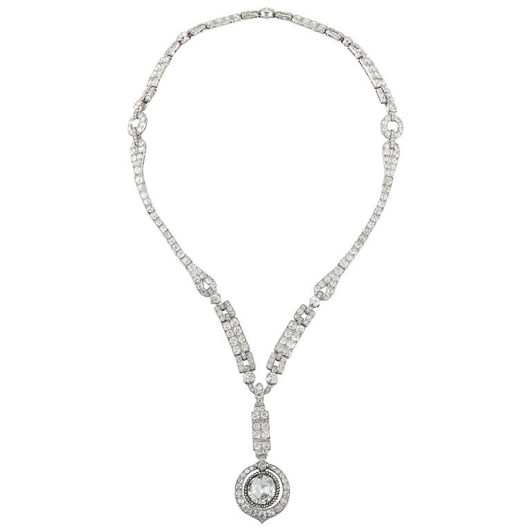 The Historic Art Deco Porges Sautoir Necklace by Cartier For Sale