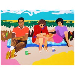'The Holiday Crush' Portrait Painting by Alan Fears Pop Art Figurative