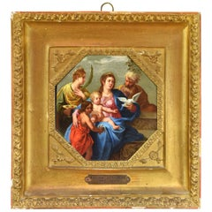 """The Holy Family"", Oil on Copper, Annibale Carracci's Surroundings or Circle"