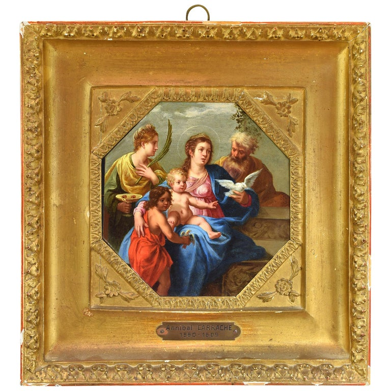 Quot The Holy Family Quot Oil On Copper Annibale Carracci S