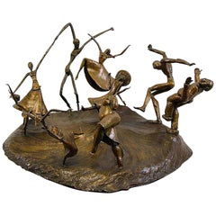 """The Horah"" Bronze Sculpture by Sonya Bellak"