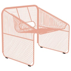 The Hot Seat, Lounge Chair, a Modern Mid-Century Inspired Design, Peachy Pink