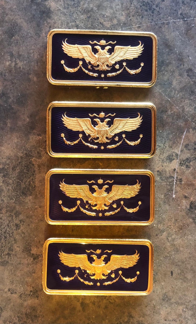 The House of Faberge 22-Karat Gold-Plated Imperial Domino Set and Case For Sale 6