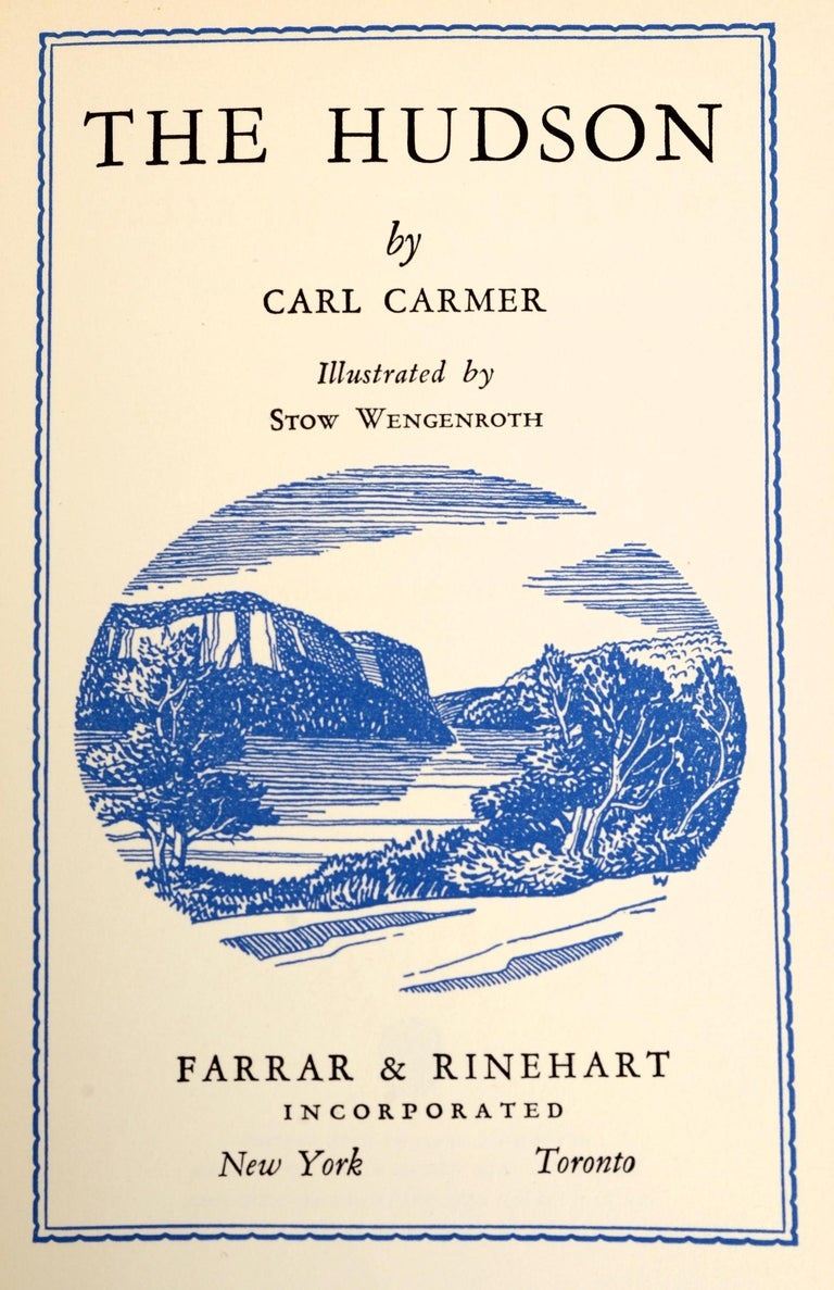 Mid-20th Century The Hudson by Carl Carmer, First Edition For Sale