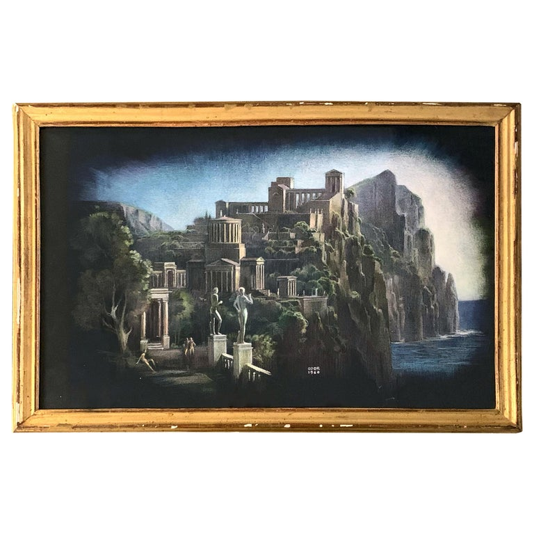 """The Idealized City,"" Depiction of Classicized, Homophile Paradise by Goor For Sale"