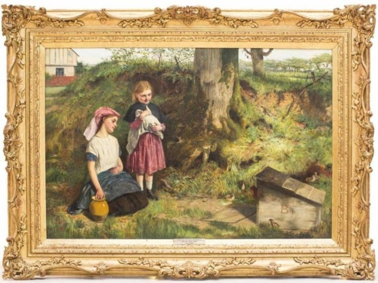 The Intruders, Oil on Canvas by Charles Sillem Lidderdale, Signed For Sale 2