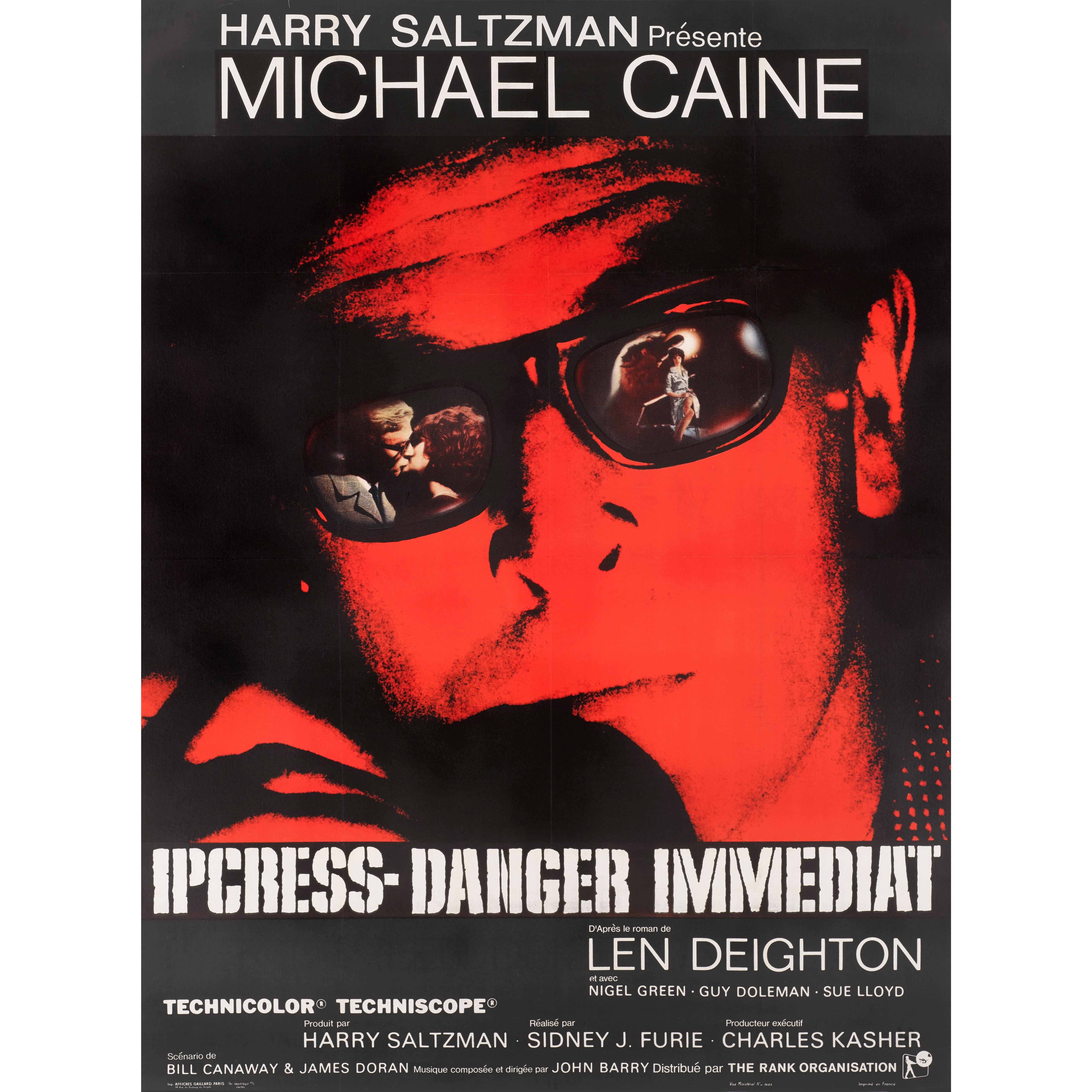 """""""The Ipcress File"""" Original French Film Poster"""
