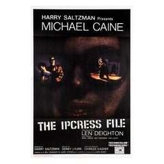 'The Ipcress File' Original Vintage Movie Poster, South African, 1965