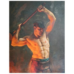 """The Ironworker,"" Important Depiction of American Industrial Worker, John Garth"
