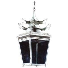 The Jamb Medium Pagoda Lantern Georgian Chinoiserie Hanging Light