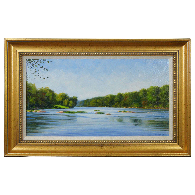 The James Below Z Dam by Joseph Burrough Original Oil Painting on Linen