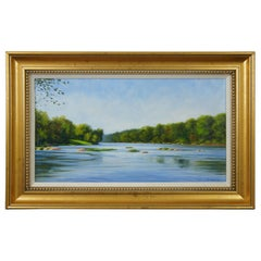 The James Below Z Dam by Joseph Burrough Original Oil Painting on Linen