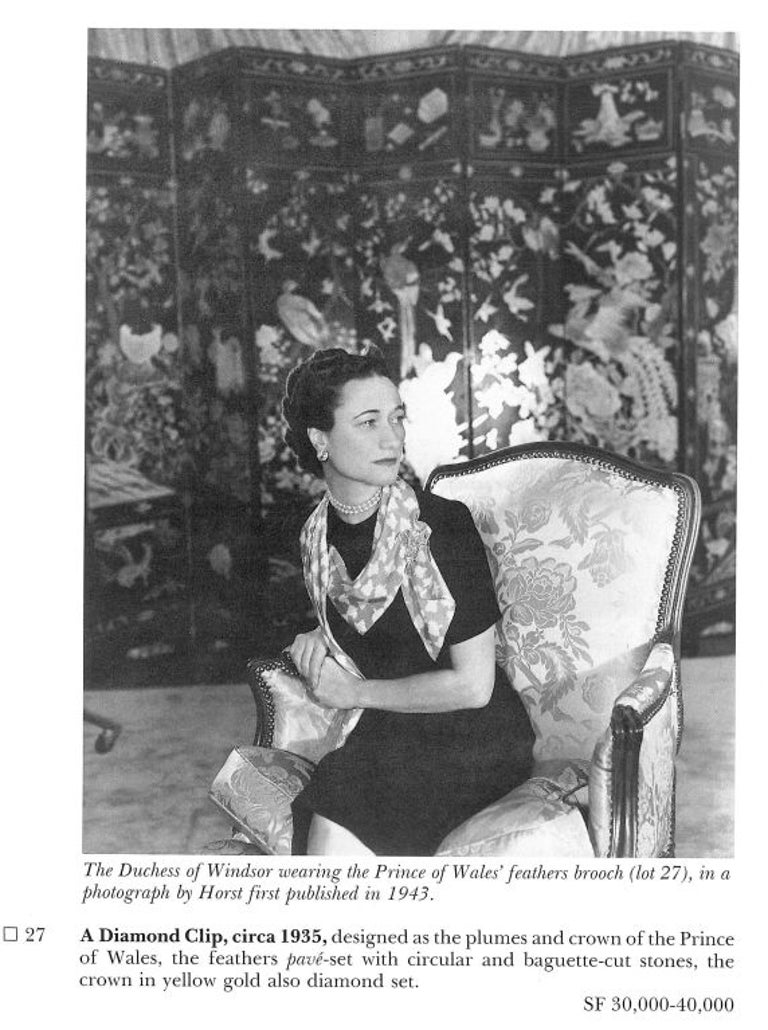 The Jewels of the Duchess of Windsor, Sotheby's Catalogue For Sale 3