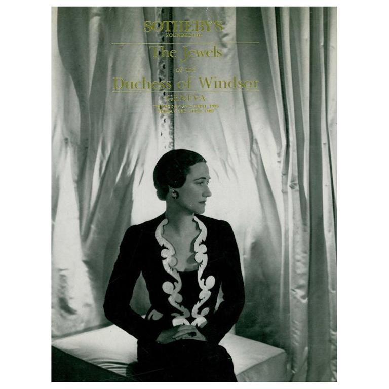 The Jewels of the Duchess of Windsor, Sotheby's Catalogue For Sale