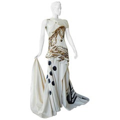 The John Galliano 2007 Runway Collection Finale Dress Gown  RARE COLLECTIBLE!