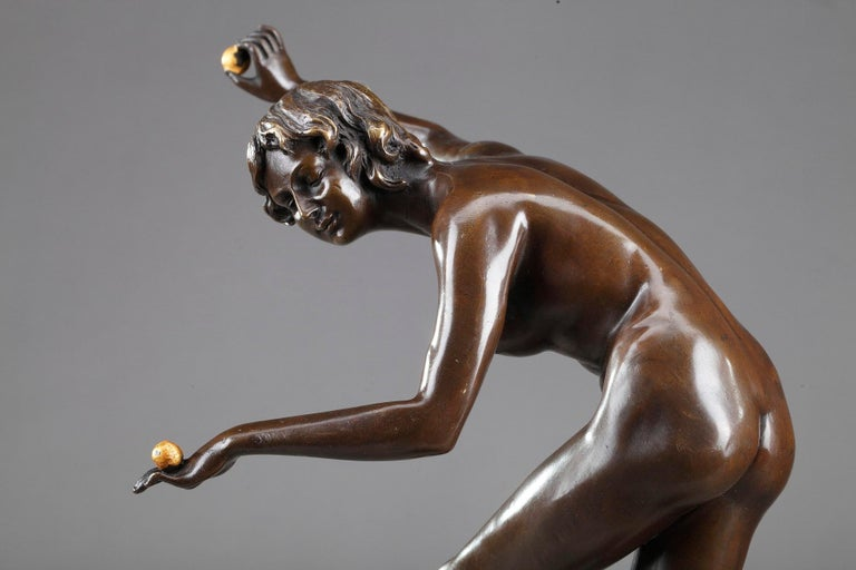Juggler by Claire Colinet '1880-1950' In Good Condition For Sale In Paris, FR