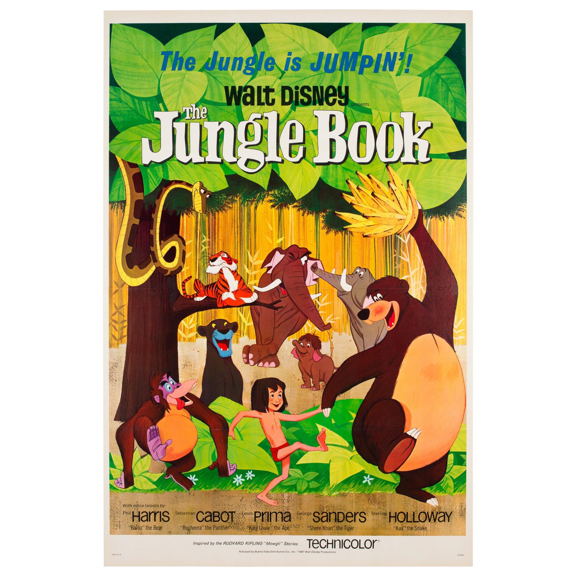 The Jungle Book 1967 US 1 Sheet Film Poster, Disney