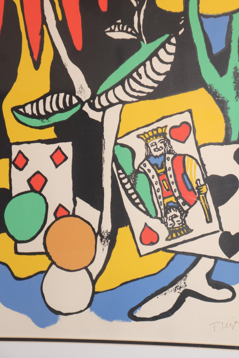 Fernand Leger The King of Heart, Signed and Numbered 284/300 Lithograph For Sale 3