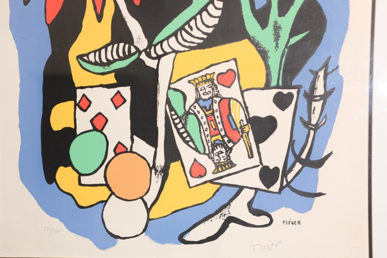 Fernand Leger The King of Heart, Signed and Numbered 284/300 Lithograph For Sale 4