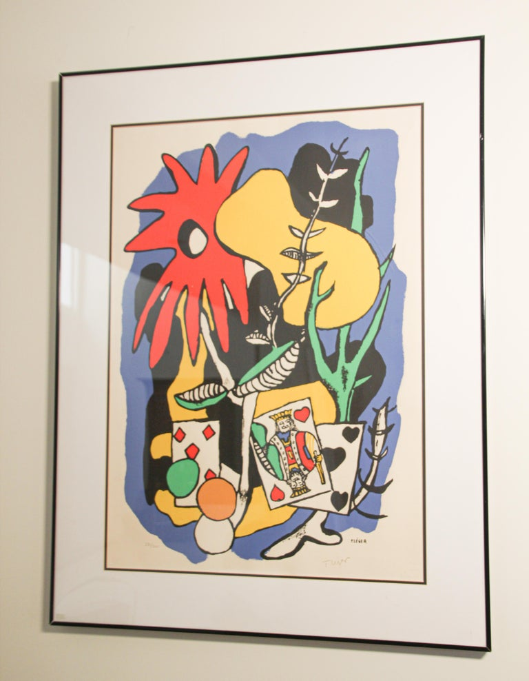 Modern Fernand Leger The King of Heart, Signed and Numbered 284/300 Lithograph For Sale