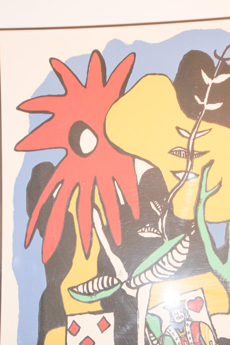 French Fernand Leger The King of Heart, Signed and Numbered 284/300 Lithograph For Sale