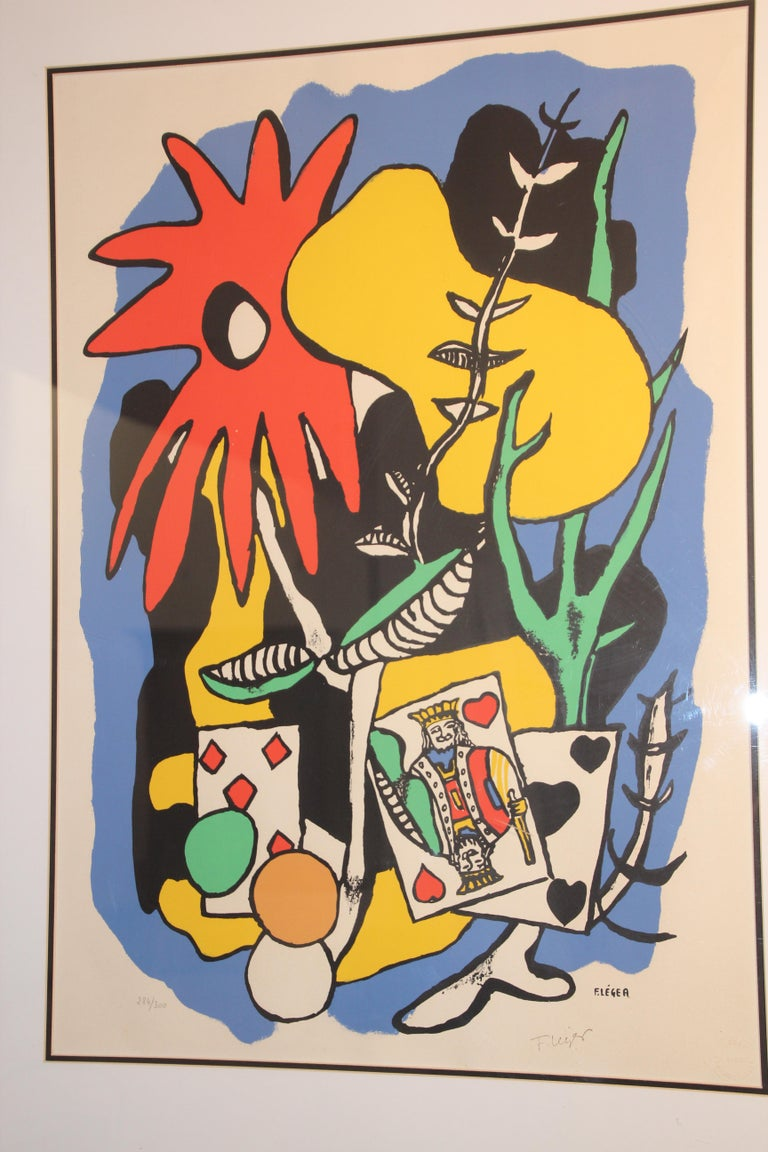 Fernand Leger The King of Heart, Signed and Numbered 284/300 Lithograph For Sale 1