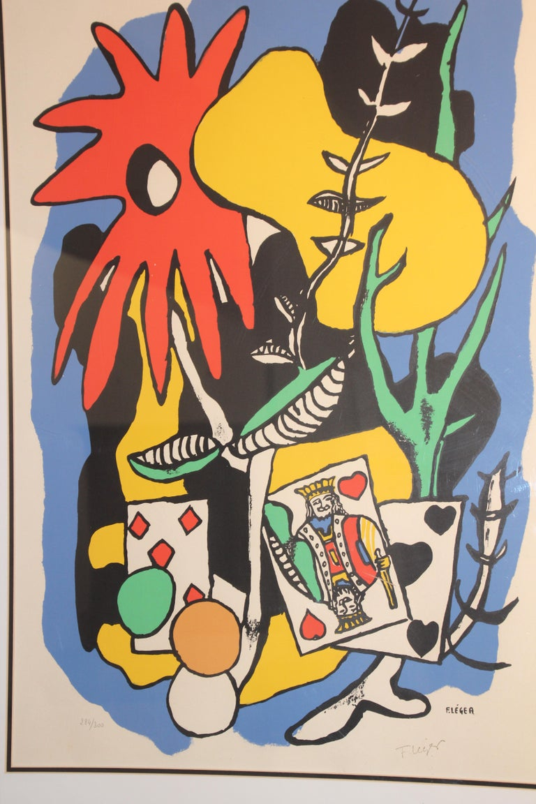 Fernand Leger The King of Heart, Signed and Numbered 284/300 Lithograph For Sale 2