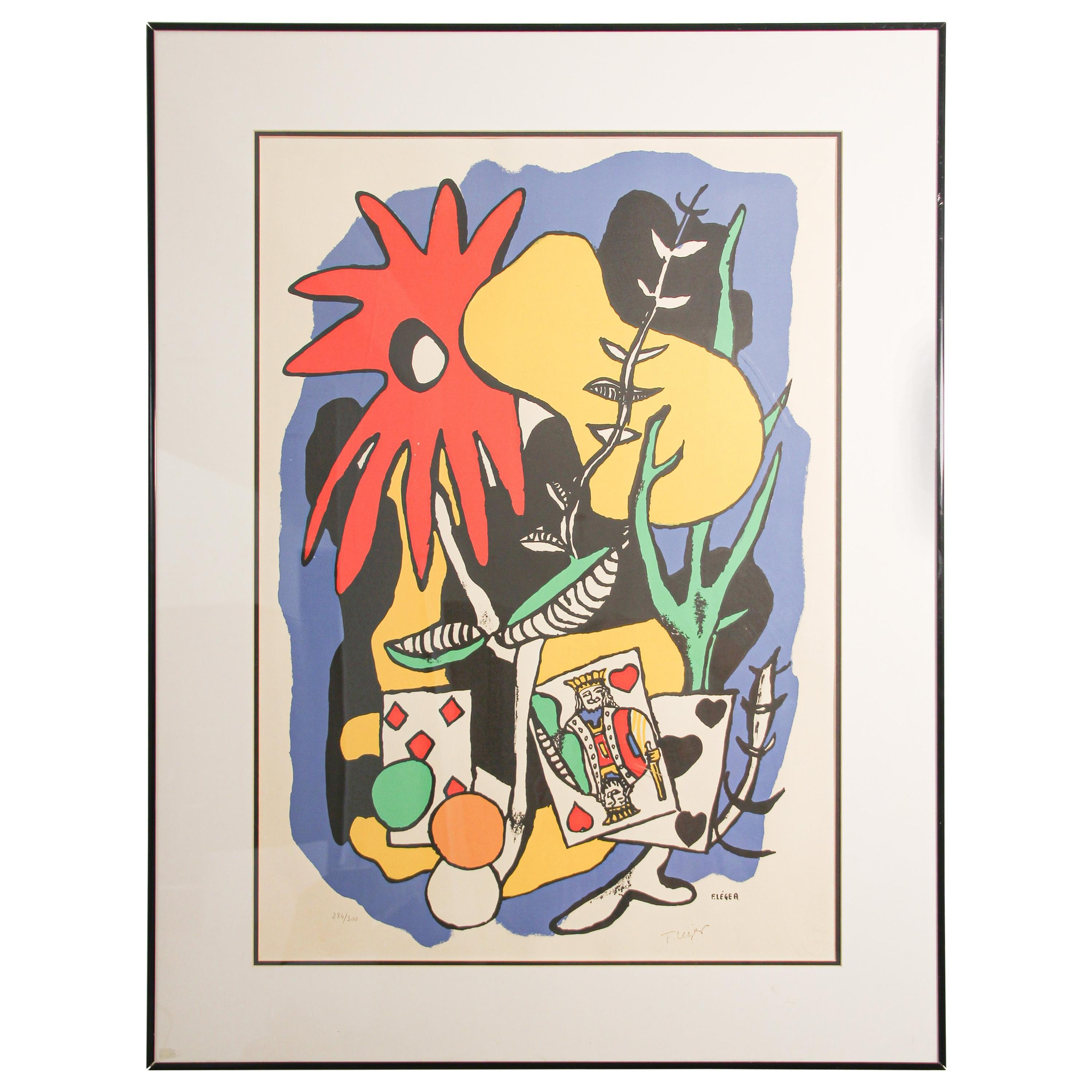Fernand Leger The King of Heart, Signed and Numbered 284/300 Lithograph