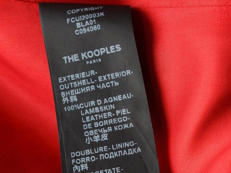The Kooples Black Leather Moto Jacket 1
