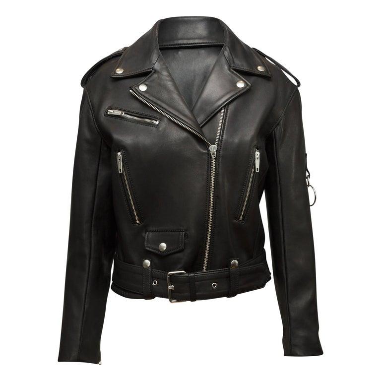 The Kooples Black Leather Moto Jacket