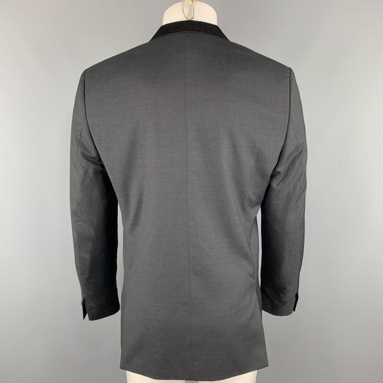 Men's THE KOOPLES Chest Size 42 Nailhead Black Wool Peak Lapel Sport Coat For Sale