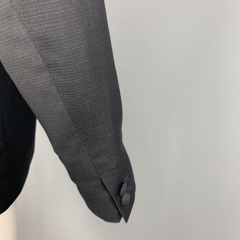 THE KOOPLES Chest Size 42 Nailhead Black Wool Peak Lapel Sport Coat For Sale 1
