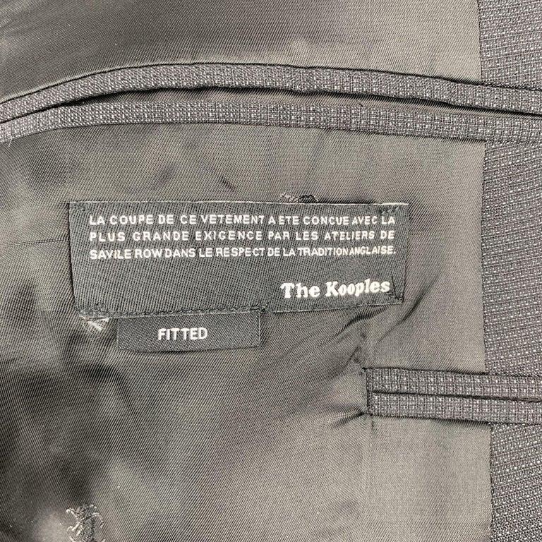 THE KOOPLES Chest Size 42 Nailhead Black Wool Peak Lapel Sport Coat For Sale 2