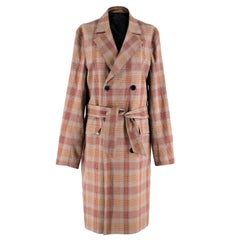 The Kooples Show Boston Check Belted Trench Coat - Size US 8