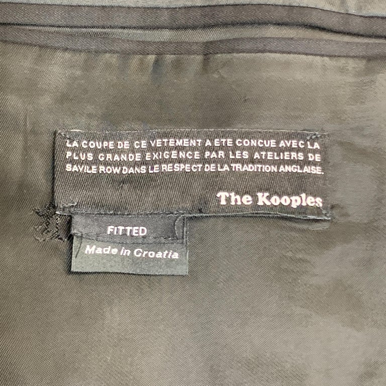 THE KOOPLES Size 40 Black Wool Shawl Collar Single Button Sport Coat For Sale 2