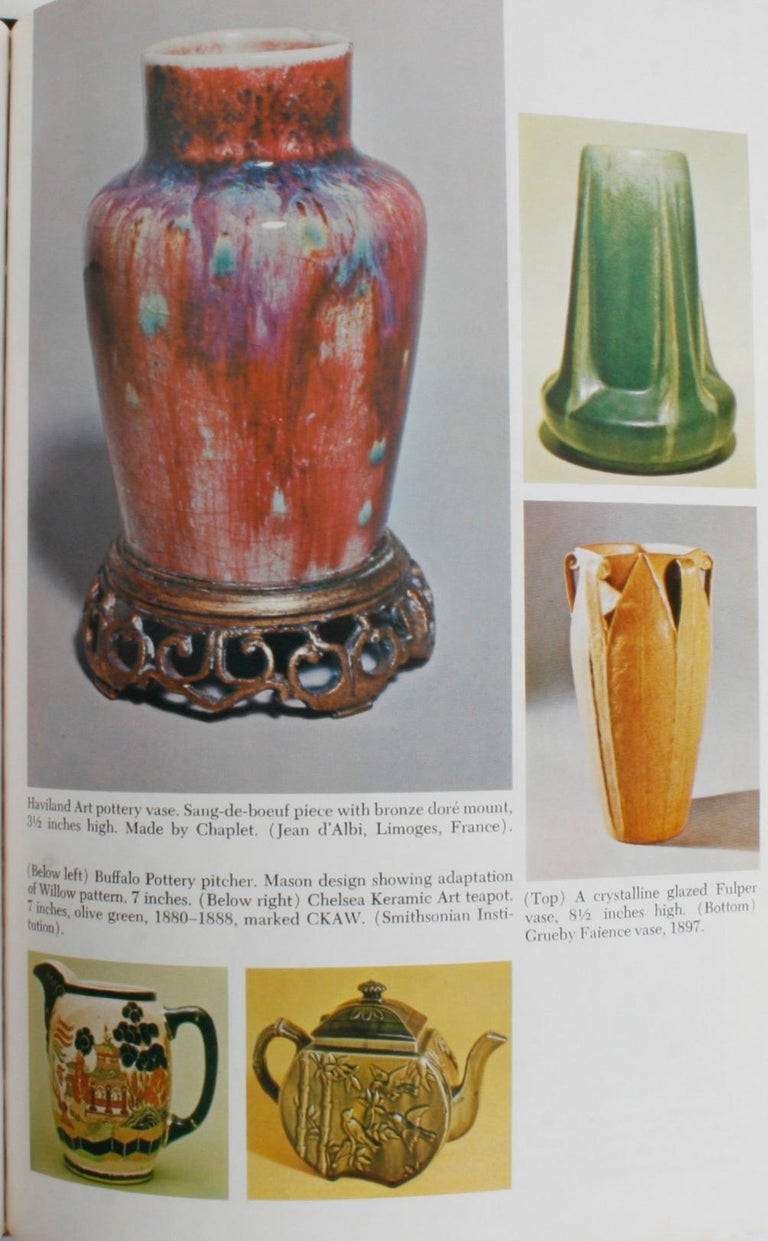 The Kovel's Collector's Guide to American Art Pottery by Ralph and Terry Kovel. New York: Crown Publishers, Inc., 1974. Hardcover with dust jacket. 369 pp. A detailed reference guide to American Art Pottery including craftsmen, signatures and marks,