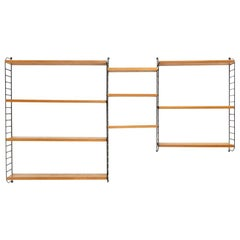 'the ladder shelf' Shelving Unit by Nisse Strinning for String, 1960s
