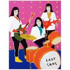 'The Lady Gang' Portrait Painting by Alan Fears Pop Art Band