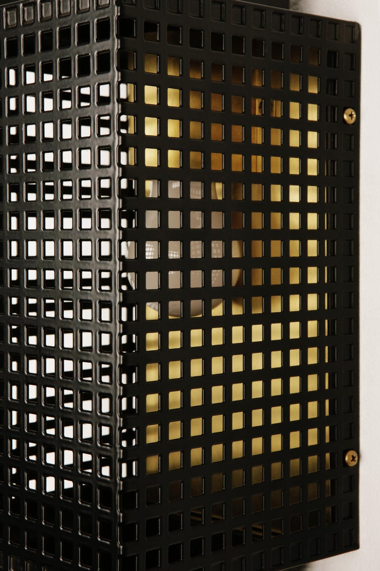 Powder-Coated The Lanterne Outdoor Fixture With Solid Brass Reflector For Sale