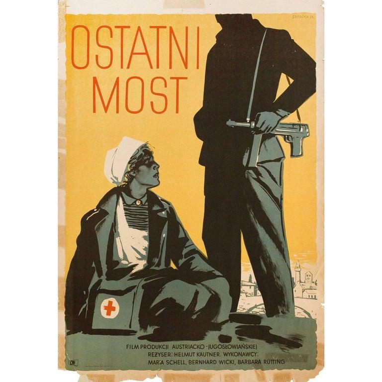 Mid-20th Century 'The Last Bridge' 1956 Polish A1 Film Poster For Sale
