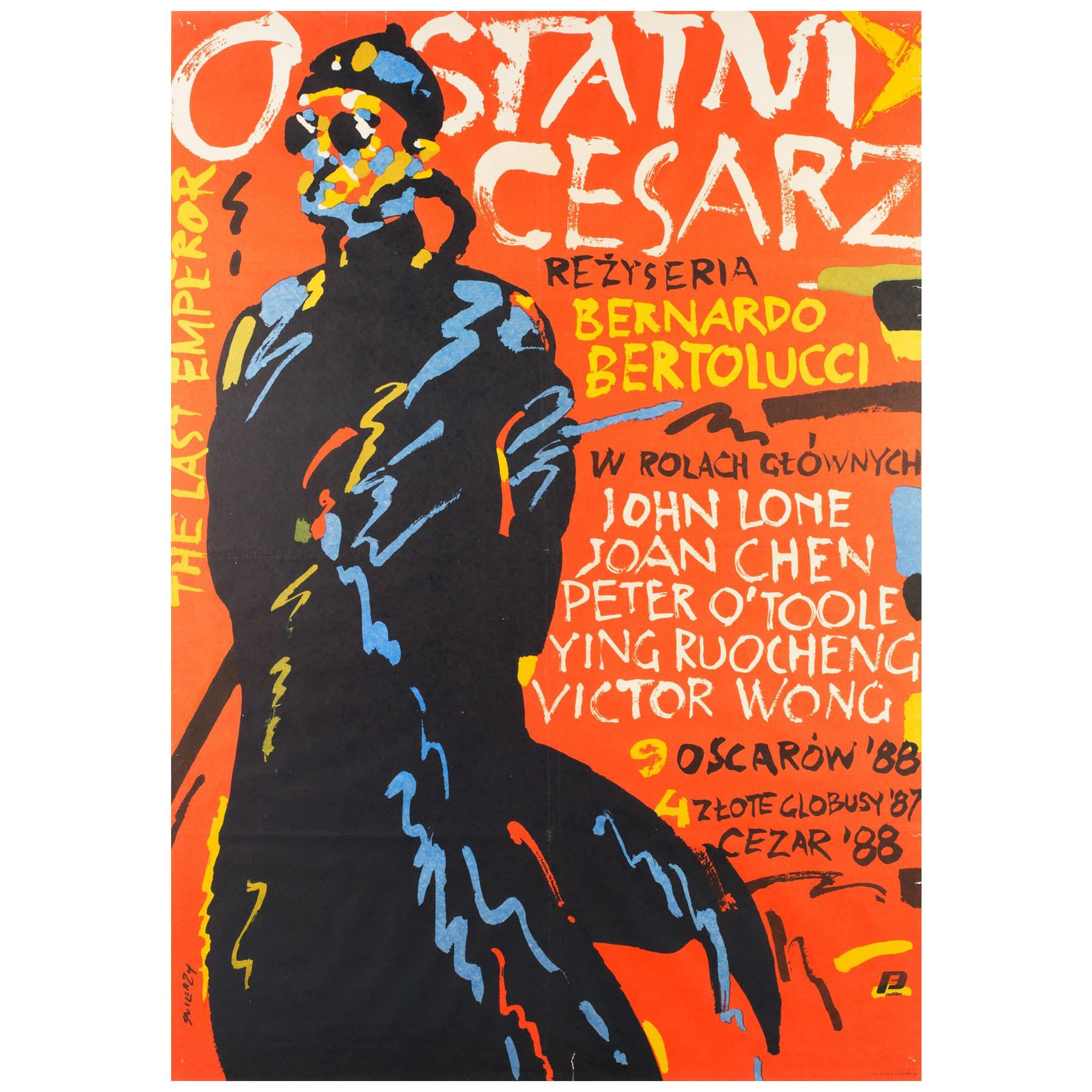 The Last Emperor Original Polish Film Poster Waldemar Swierzy, 1989