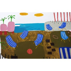 'The Last Resort' Landscape Abstract Painting by Alan Fears Pop Art